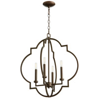 Quorum 6942-4-86 Dublin 4 Light 22 inch Oiled Bronze Pendant Ceiling Light