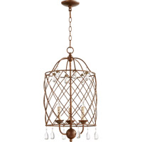 Quorum 6944-3-39 Venice 3 Light 14 inch Vintage Copper Foyer Light Ceiling Light
