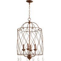 Quorum 6944-4-39 Venice 4 Light 17 inch Vintage Copper Foyer Light Ceiling Light