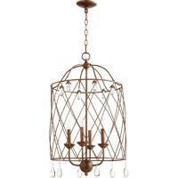 Quorum 6944-4-39 Venice 4 Light 17 inch Vintage Copper Foyer Light Ceiling Light