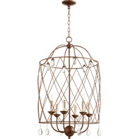 Quorum Venice 6 Light Foyer Light in Vintage Copper 6944-6-39