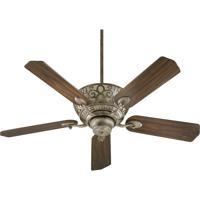 Quorum 69525-58 Cimarron 52 inch Mystic Silver Ceiling Fan