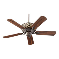 Quorum International Cimarron 6 Light Ceiling Fan in Oiled Bronze 69525-86