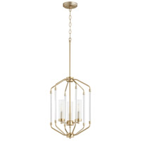 Quorum 6963-3-80 Citadel 3 Light 14 inch Aged Brass Entry Pendant Ceiling Light