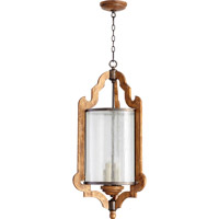 Quorum International Ashford 4 Light Foyer Light in Provincial with Rustic Iron Accents 6963-4-23