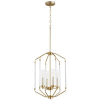 Quorum 6963-4-80 Citadel 4 Light 16 inch Aged Brass Entry Pendant Ceiling Light