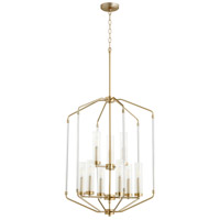 Quorum 6963-9-80 Citadel 9 Light 24 inch Aged Brass Entry Pendant Ceiling Light