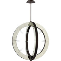 Quorum International Vanguard 12 Light Pendant in Oiled Bronze 697-12-86