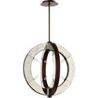 Quorum International Vanguard 8 Light Pendant in Oiled Bronze 697-8-86