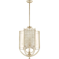 Quorum 6975-4-60 Bastille 4 Light 18 inch Aged Silver Leaf Entry Pendant Ceiling Light
