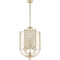Quorum 6975-4-60 Bastille 4 Light 18 inch Aged Silver Leaf Entry Pendant Ceiling Light