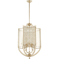 Bastille 6 Light 22 inch Aged Silver Leaf Entry Pendant Ceiling Light