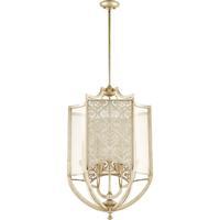 Quorum 6975-6-60 Bastille 6 Light 22 inch Aged Silver Leaf Entry Pendant Ceiling Light