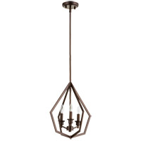 Quorum 699-3-86 Knox 3 Light 14 inch Oiled Bronze Pendant Ceiling Light