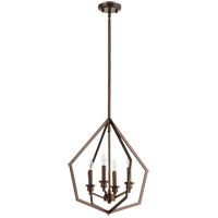 Quorum 699-4-86 Knox 4 Light 18 inch Oiled Bronze Pendant Ceiling Light