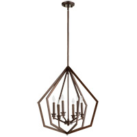 Quorum 699-6-86 Knox 6 Light 22 inch Oiled Bronze Pendant Ceiling Light