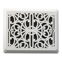 Quorum 7-113-08 Lighting Accessory Studio White Flush Mount Chime Grill