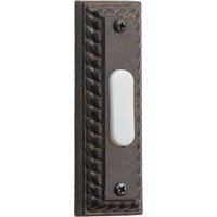 Lighting Accessory Toasted Sienna Traditional Rectangle Doorbell