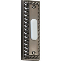Quorum International Lighting Accessory Traditional Rectangle Doorbell in Antique Silver 7-303-92