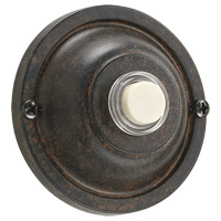 Quorum 7-304-44 Lighting Accessory Toasted Sienna Basic Round Doorbell