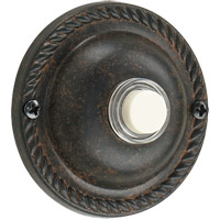 Lighting Accessory Toasted Sienna Traditional Round Doorbell