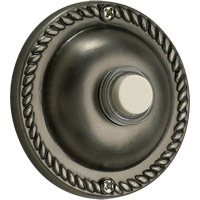 Quorum International Lighting Accessory Traditional Round Doorbell in Antique Silver 7-305-92