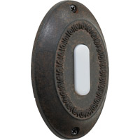 Quorum 7-307-44 Lighting Accessory Toasted Sienna Basic Oval Doorbell