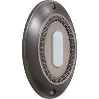 Quorum International Lighting Accessory Basic Oval Doorbell in Antique Silver 7-307-92