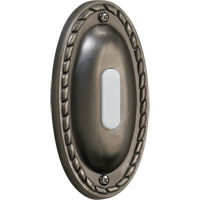 Quorum International Lighting Accessory Traditional Oval Doorbell in Antique Silver 7-308-92