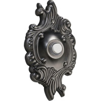 Quorum 7-309-92 Lighting Accessory Antique Silver Opulent Round Doorbell