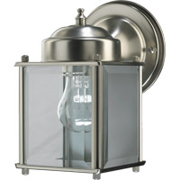 Quorum International Lantern 1 Light Outdoor Wall Lantern in Satin Nickel 700-65