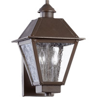 Emile 2 Light 15 inch Oiled Bronze Outdoor Wall Lantern