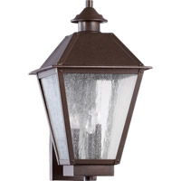Emile 3 Light 19 inch Oiled Bronze Outdoor Wall Lantern
