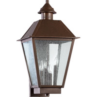Quorum International Emile 4 Light Outdoor Wall Lantern in Oiled Bronze 7024-4-86