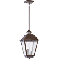 Emile 3 Light 11 inch Oiled Bronze Outdoor Hanging Lantern
