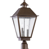 Emile 3 Light 22 inch Oiled Bronze Post Lantern