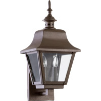 Quorum 7030-2-86 Bishop 2 Light 18 inch Oiled Bronze Outdoor Wall Lantern