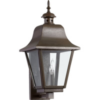 Quorum 7030-3-86 Bishop 3 Light 23 inch Oiled Bronze Outdoor Wall Lantern