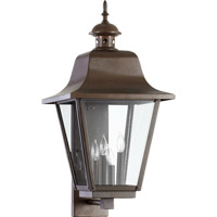 Quorum International Bishop 4 Light Outdoor Wall Lantern in Oiled Bronze 7030-4-86