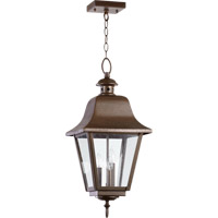 Bishop 3 Light 11 inch Oiled Bronze Outdoor Hanging Lantern