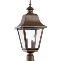 Bishop 3 Light 25 inch Oiled Bronze Post Lantern
