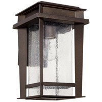 Easton 1 Light 14 inch Oiled Bronze Outdoor Wall Lantern, Quorum Home