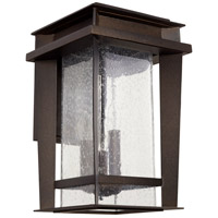 Easton 3 Light 17 inch Oiled Bronze Outdoor Wall Lantern, Quorum Home