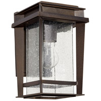 Easton 1 Light 12 inch Oiled Bronze Outdoor Wall Lantern, Quorum Home