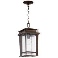 Quorum 7041-1-86 Easton 1 Light 8 inch Oiled Bronze Outdoor Pendant, Quorum Home