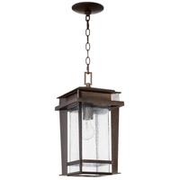 Quorum 7041-1-86 Easton 1 Light 8 inch Oiled Bronze Outdoor Pendant Quorum Home