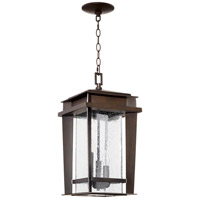 Quorum 7041-3-86 Easton 3 Light 10 inch Oiled Bronze Outdoor Pendant, Quorum Home