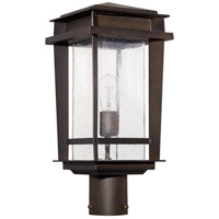 Quorum 7042-1-86 Easton 1 Light 19 inch Oiled Bronze Outdoor Post Lantern, Quorum Home