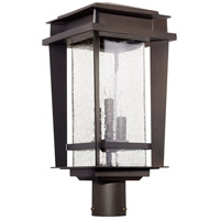 Easton 3 Light 21 inch Oiled Bronze Outdoor Post Lantern, Quorum Home