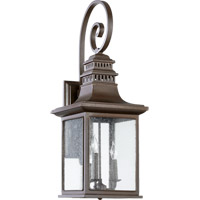 Quorum 7043-3-86 Magnolia 3 Light 31 inch Oiled Bronze Outdoor Wall Lantern